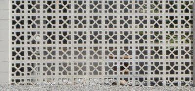 Mid century modern brick walls for Decorative block wall designs